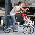 Carrinho de bebê ou carrinho de compras podem ser adaptados à bicicleta. Foto: Divulgação