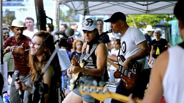 Show da banda Pequeno Cidadão foi uma das atrações do festival. Foto: Rachel Schein