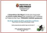 Convite oficial para inauguração da estrutura. Imagem: Reprodução