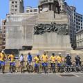 Guarda Civil Metropolitana leva cidadãos para pedalar pelo centro histórico de São Paulo. Foto: Rachel Schein