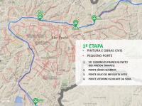 Mapa da primeira etapa. Imagem: SMT/Divulgação