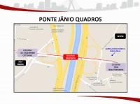 Projeto da ciclovia na Ponte Jânio Quadros. Imagem: SMT/Divulgação