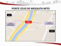Ponte Júlio de Mesquita Neto. Imagem: SMT/Divulgação