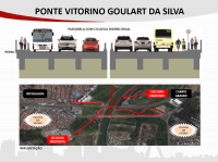 Ponte Vitorino Goulart da Silva. Imagem: SMT/Divulgação