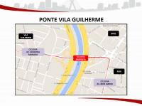 Projeto da Ciclovia na Ponte da Vila Guilherme. Imagem: SMT/Divulgação