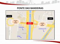 Ponte das Bandeiras. Imagem: SMT/Divulgação