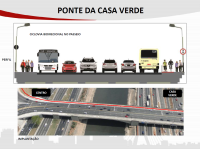 Ponte da Casa Verde. Imagem: SMT/Divulgação