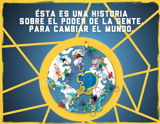 Imagem de divulgação do quarto Fórum Mundial da Bicicleta, que será realizado na Colômbia em 2015. Imagem: Reprodução