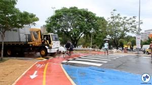 Travessia e ciclovia na Ponte da Casa Verde aumentam a segurança de ciclistas. Foto: Rachel Schein
