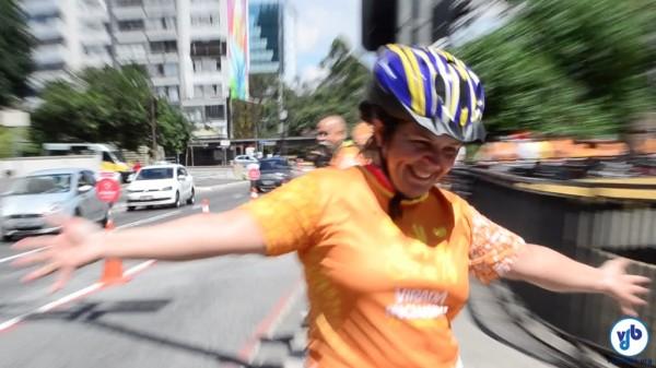 Evento atraiu pessoas com e sem deficiência para pedalar na Av. Paulista. Foto: Rachel Schein