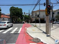R. Cel. Lisboa em 18/nov. Essa calçada já está sendo readequada. Foto: Willian Cruz