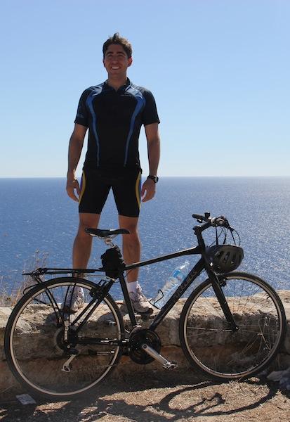 """André Schetino, autor do """"Guia para viajar de bicicleta - Volume I"""". Foto: André Schetino"""