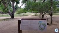 A entrada da área principal do Parque, com um mapa do local. Foto: Willian Cruz
