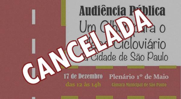 audiencia publica cancelada