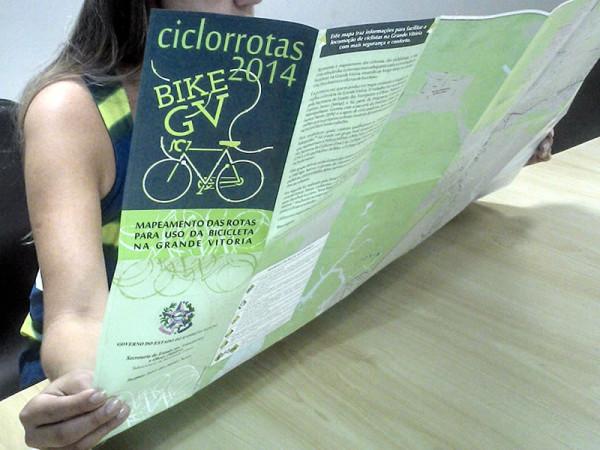 Mapa cicloviário da Grande Vitória (ES). Foto: Divulgação
