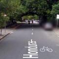 Sinalização de ciclorrotas na R. Honduras. Imagem: Google Street View / Reprodução
