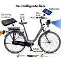A bicicleta é dotada de radar e câmeras que alertam o ciclista para a presença de obstáculos. Foto: Divulgação/VNO