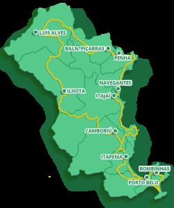 circuito verde mar mapa