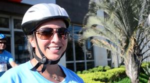 A assistente de projetos Fernanda Fernandes, que participou de seu segundo passeio ciclístico, agora quer ir de bike para o trabalho. Foto: Rachel Schein