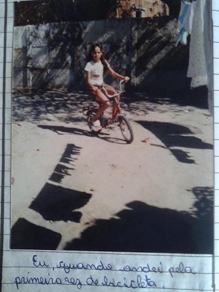A primeira pedalada. Foto: Arquivo pessoal