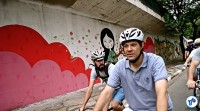 Pedalada grafites 23 de maio com Haddad 39 - Foto Rachel Schein