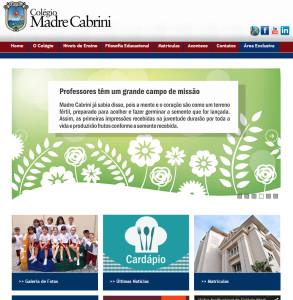 """Home page da instituição de ensino: """"as primeiras impressões recebidas na juventude durarão por toda a vida e produzirão frutos conforme a semente recebida."""""""