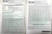 Reprodução do documento que foi protocolado na Secretaria de Transportes de São Paulo, na semana de Carnaval.