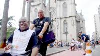 Pessoas com deficiência e mobilidade reduzida utilizaram as ciclovias. Objetivo do passeio foi tornar essa prática mais comum. Foto: Rachel Schein
