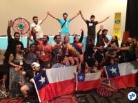 A comemoração da delegação chilena. Foto Fabio Nazareth
