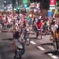 Milhares de ciclistas tomaram a avenida símbolo de São Paulo, a Paulista, para reivindicar seu direito à circulação segura. Manifestação aconteceu em mais de 30 cidades brasileiras e 15 estrangeiras. Foto: Carlos Aranha