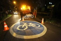 Nova infraestrutura era demanda antiga de ciclistas. Foto: Jaelson Lucas/SMCS