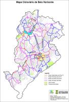 Ciclovias atuais e propostas de Belo Horizonte, de acordo com a prefeitura da capital mineira. Imagem: Reprodução