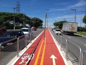 Infraestrutura possui 600 metros de comprimento e dá continuidade à ciclovia da avenida Guilherme Cotching.  Foto: Enzo Bertolini