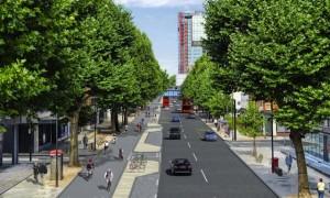 Melhorias na infraestrutura podem incentivar mais crianças e idosos a pedalarem nas ruas. Imagem: Divulgação/Transport for London
