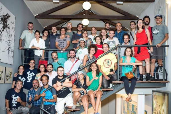 Cicloativistas de todo o país trocaram experiências mais uma vez no workshop da Transporte Ativo. Foto: Bruno Brin