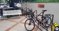 Bicicletário em edifício comercial de São Paulo. Foto: Willian Cruz