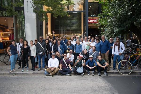Evento reuniu ciclistas urbanos na loja da R. Oscar Freire, em São Paulo. Foto: Danilo Tanaka