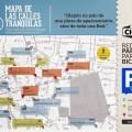 Mapa da rede de estacionamentos para bike em Madri, projeto vencedor. Imagem: Reprodução