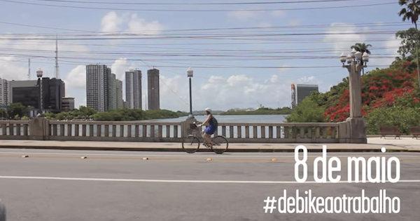 Diversas capitais brasileiras realizam atividades para estimular o uso da bike como meio de transporte de casa para o trabalho. Imagem: Reprodução
