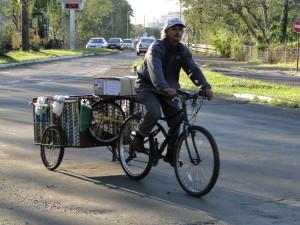 Maioria dos ciclistas é de homens adultos. (foto: divulgação Transporte Ativo)