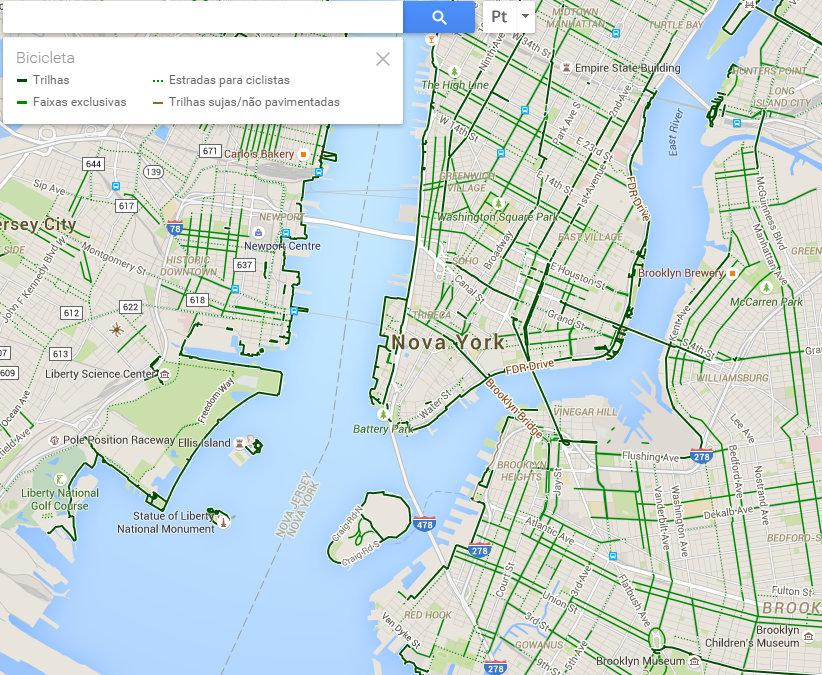 Google maps libera rotas para bicicletas mas sistema ainda tem falhas usando a mesma ferramenta com a cidade de nova york os trajetos recomendados para a reheart Images