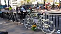 A Ghost Bike de Juliana Dias nos lembra o quanto demorou para que houvesse uma ciclovia na avenida. Foto: Willian Cruz