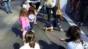 Atividades ao ar livre para as crianças. Foto: Willian Cruz