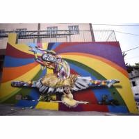 Mural Bailarina Maria Daniela, em Paraisópolis (São Paulo). Foto: Mateus Bonomi