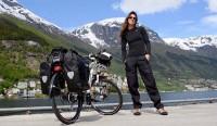 Raquel em Odda, na Noruega. Foto: Arquivo pessoal
