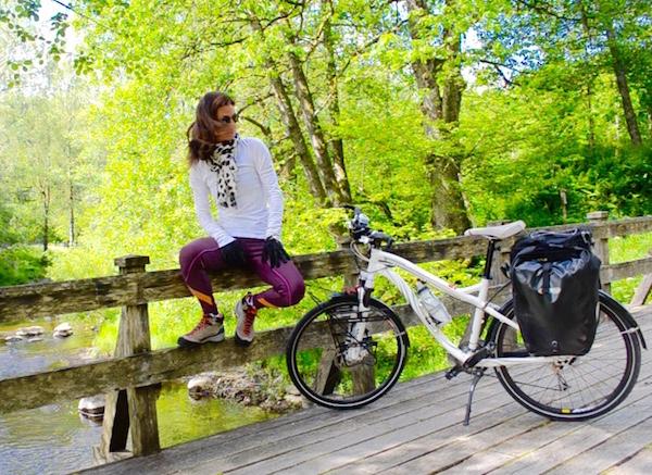 Raquel Jorge a caminho de Grimstad, Noruega. Foto: arquivo pessoal