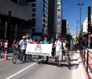 Protesto realizado durante a inauguração da ciclovia da Av. Paulista. Foto: Ivson Miranda