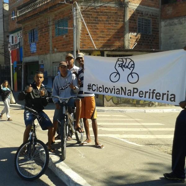 Ciclistas da Vila Dionísia reivindicam por estrutura cicloviária em seu bairro. Foto Ciclo ZN