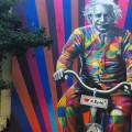 mural eduardo kobra einstein bicicleta genial eh andar de bike fb h - Foto Divulgacao