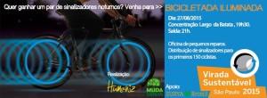 Bicicletada Iluminada acontece na noite de sexta-feira (28).